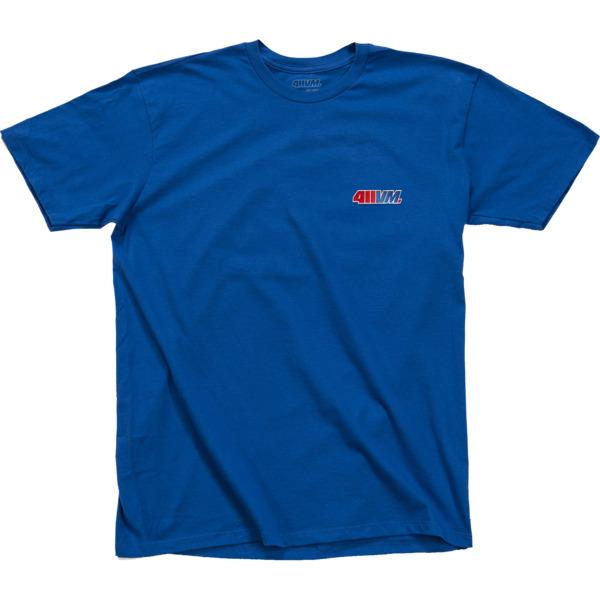 Transworld Skateboarding 411VM Blue Embroidered Short Sleeve T-Shirt - Small