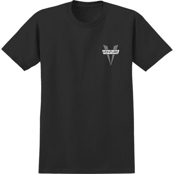 Venture Trucks Heritage V Black / Grey Men's Short Sleeve T-Shirt - Small