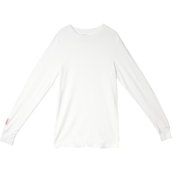 Baker Skateboards Brand Logo White Men's Long Sleeve T-Shirt - X-Large