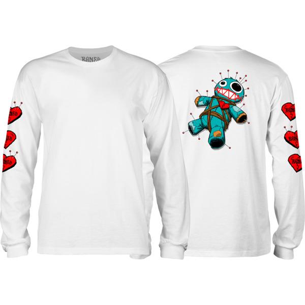 Bones Wheels Voodoo White Men's Long Sleeve T-Shirt - Medium
