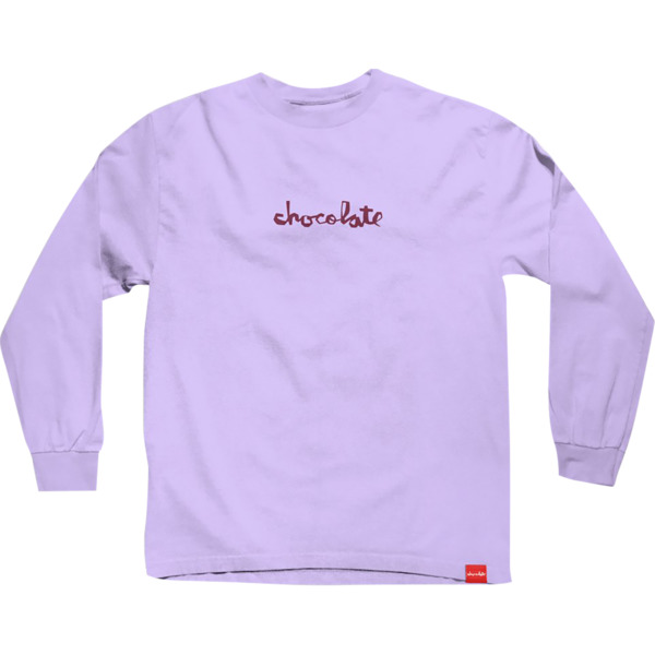 Chocolate Skateboards Comfort Chunk Orchid Men's Long Sleeve T-Shirt - Small