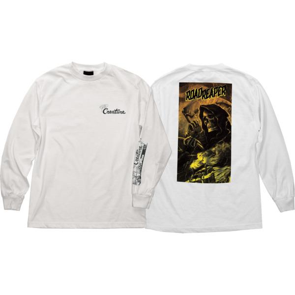 Creature Skateboards Roadside Terror White Men's Long Sleeve T-Shirt - Medium