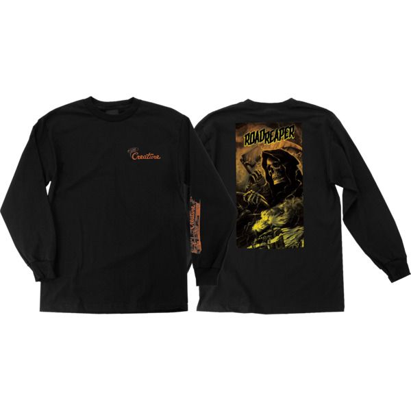Creature Skateboards Roadside Terror Black Men's Long Sleeve T-Shirt - X-Large