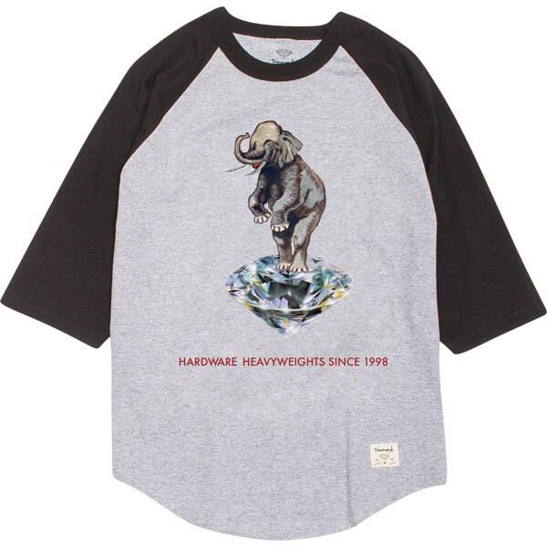 70e3aabf4 Diamond Supply Co Hardware Heavyweights 3 4 Sleeve T-Shirt - Warehouse  Skateboards