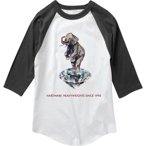 0335c9840 Diamond Supply Co Hardware Heavyweights Black 3 4 Sleeve T-Shirt - Medium -  Warehouse Skateboards