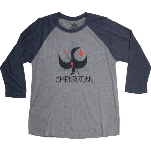 Darkroom Birdstrike Charcoal / Navy 3/4 Sleeve T-shirt - X-Large