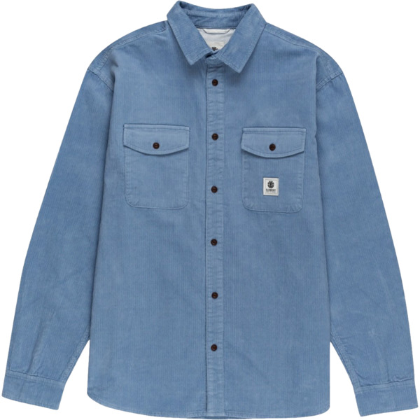 Element Skateboards Builder Cord Faded Denim Button Up - Small