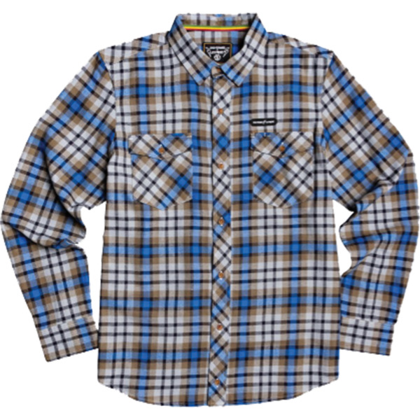 Element Skateboards Human Rights Blue Men's Long Sleeve Button Up Shirt - Small