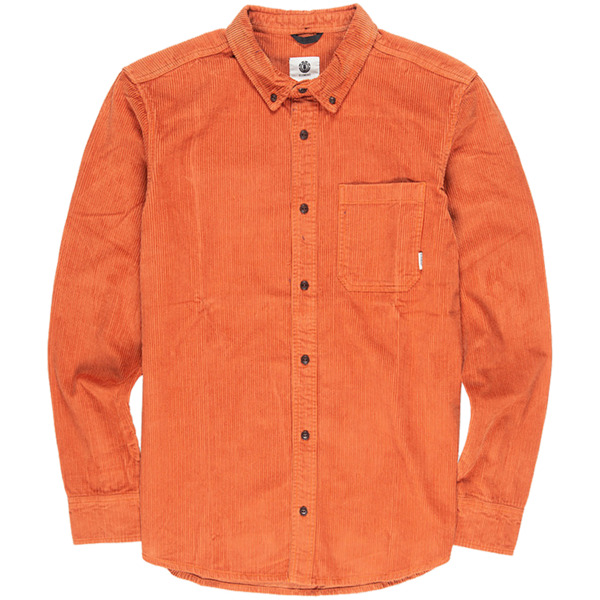 Element Skateboards Lumber Cord Ginger Bread Button Up Shirt - Small