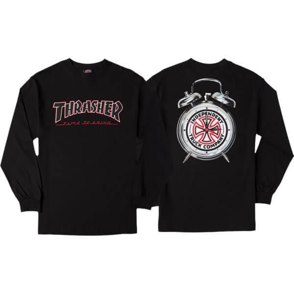 30d46eebf8fa Independent Thrasher TTG Black Men s Long Sleeve T-Shirt - X-Large -  Warehouse Skateboards