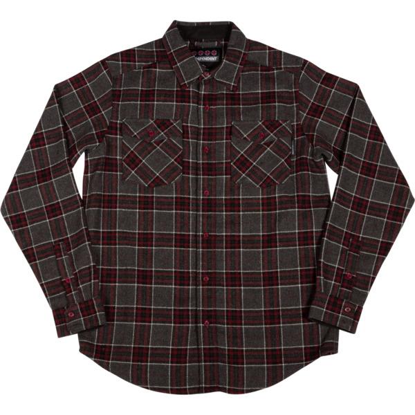 Independent Hatchet Grey / Black / Ox Blood Button Up Shirt - Small
