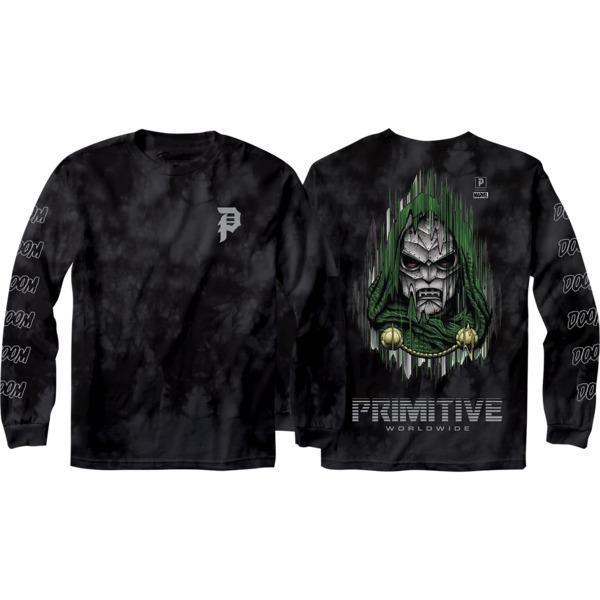 Primitive Skateboarding Doom Black Men's Long Sleeve T-Shirt - Large