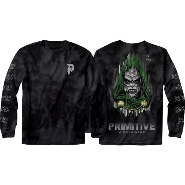 Primitive Skateboarding Doom Black Men's Long Sleeve T-Shirt - X-Large