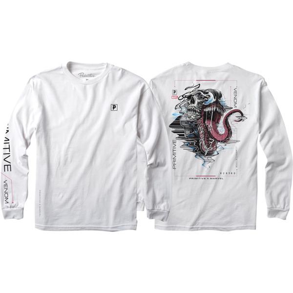 Primitive Skateboarding Venom White Men's Long Sleeve T-Shirt - Small