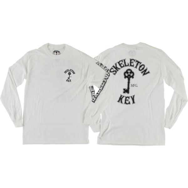 Skeleton Key Mfg Key Logo White Men's Long Sleeve T-Shirt - Small