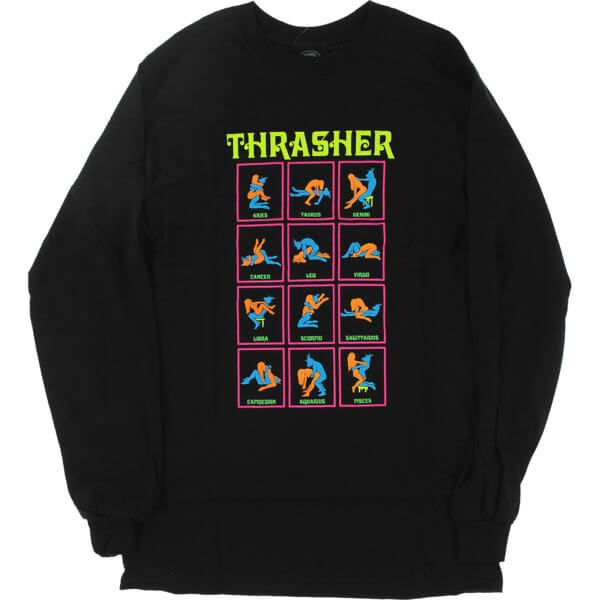 1081ebaf0fe6 Thrasher Magazine Black Light Black Men s Long Sleeve T-Shirt - Small -  Warehouse Skateboards