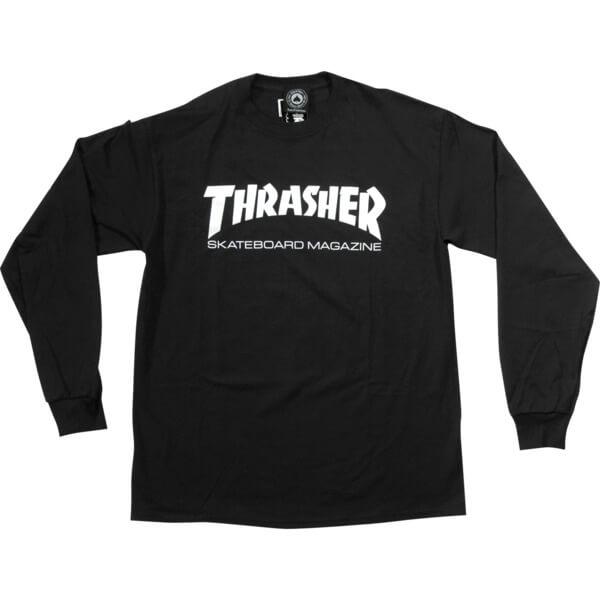 Thrasher Magazine Skate Mag Black Men's Long Sleeve T-Shirt - Medium