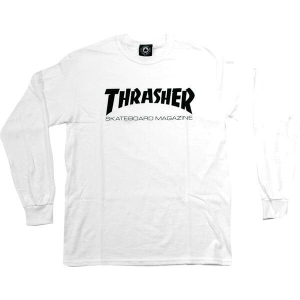 Thrasher Magazine Skate Mag White Mens Long Sleeve T-Shirt - Medium