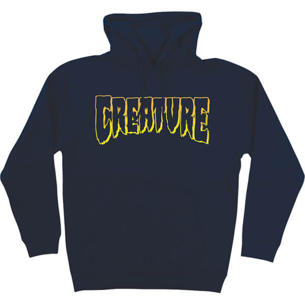 Creature Skateboards Logo Outline Navy Men's Hooded Sweatshirt - Small