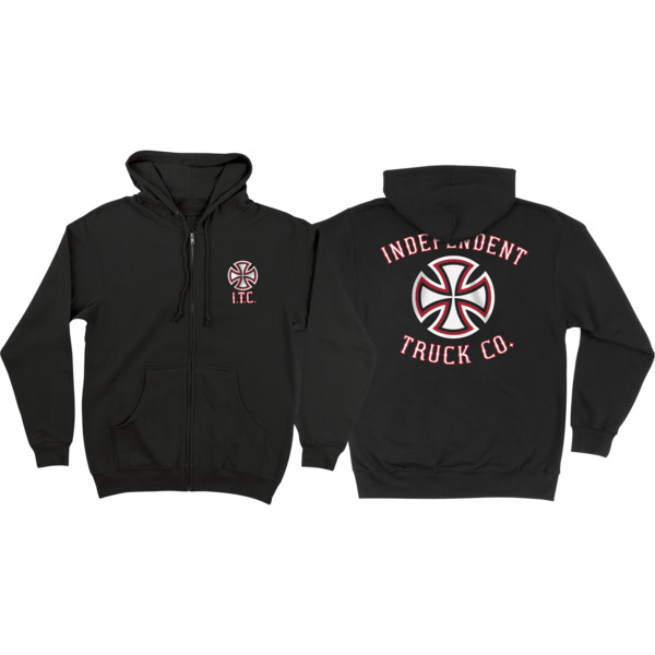 Independent Pennant Zip-Up Hooded Sweatshirt