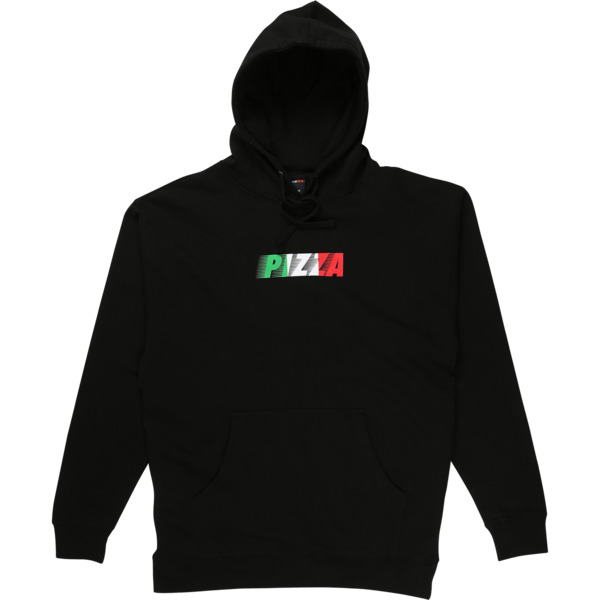 Pizza Skateboards Speedy Black Men's Hooded Sweatshirt - X-Large