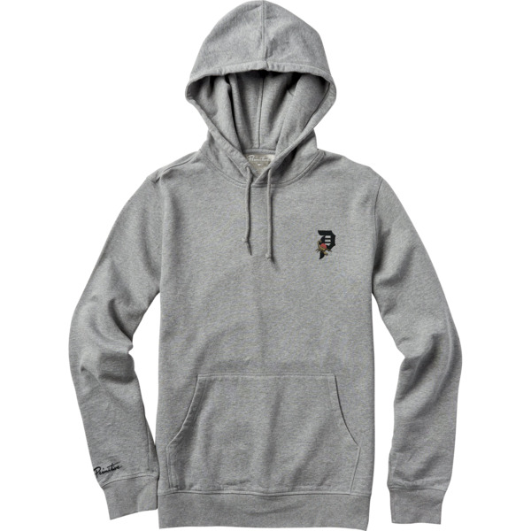 Primitive Skateboarding Dirty P Scorpion Heather Grey Men's Hooded Sweatshirt - Small