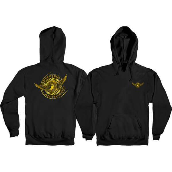 2dcf5d1b2eb9 Spitfire Wheels x Anti Hero Classic Eagle Black Men s Hooded Sweatshirt -  Medium - Warehouse Skateboards