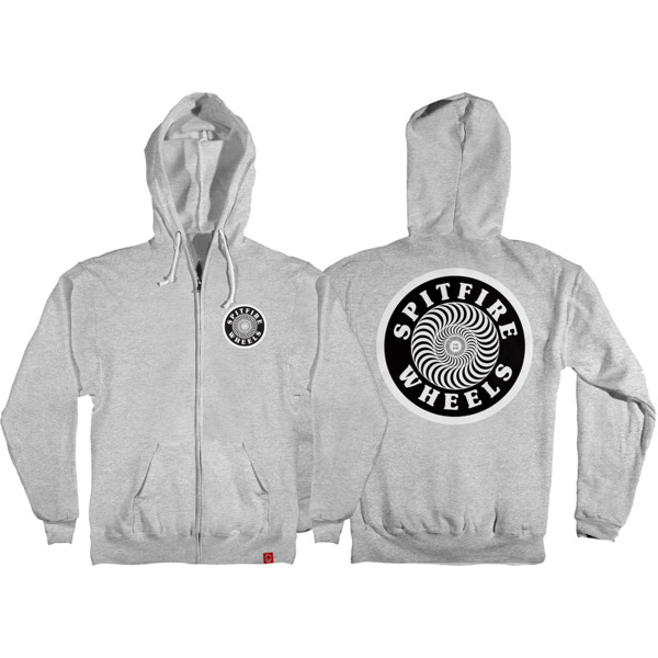 Spitfire Wheels OG Circle Patch Zip-Up Hooded Sweatshirt