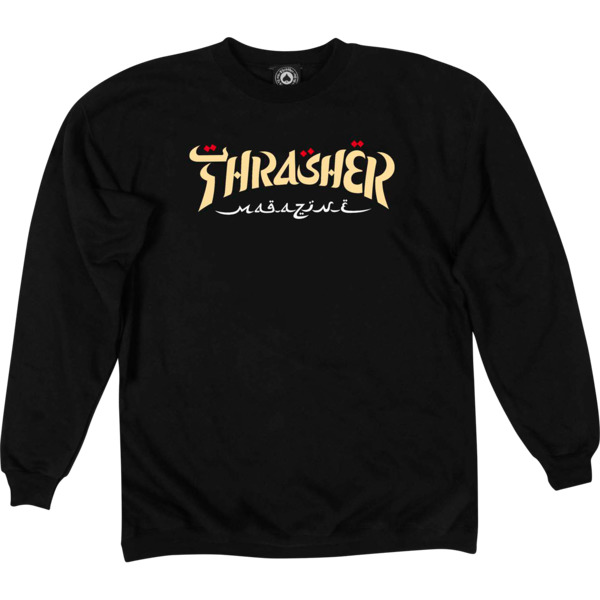 Thrasher Magazine Calligraphy Men's Crew Neck Sweatshirt