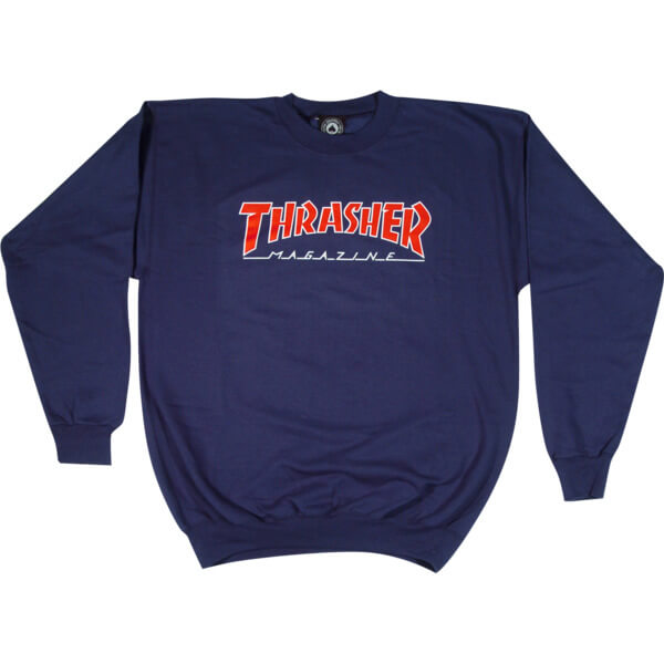 Thrasher Magazine Outlined Crew Neck Sweatshirt