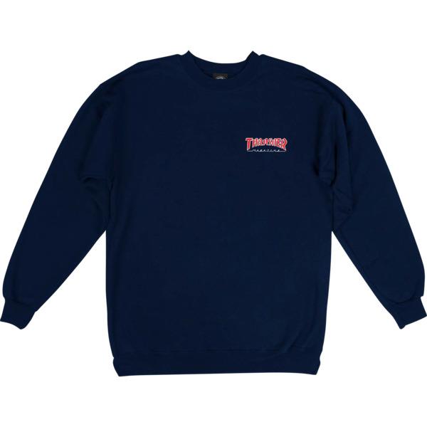 Thrasher Magazine Outlined Embroider Crew Neck Sweatshirt