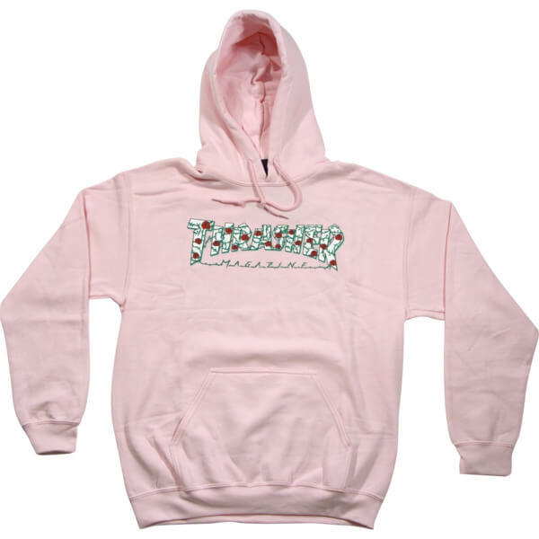 Thrasher Magazine Roses Pink Men S Hooded Sweatshirt