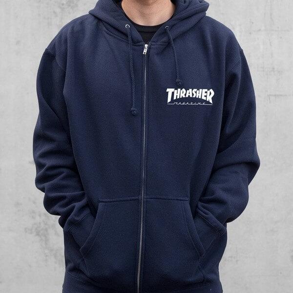 Thrasher Magazine Logo Zip-Up Hooded Sweatshirt