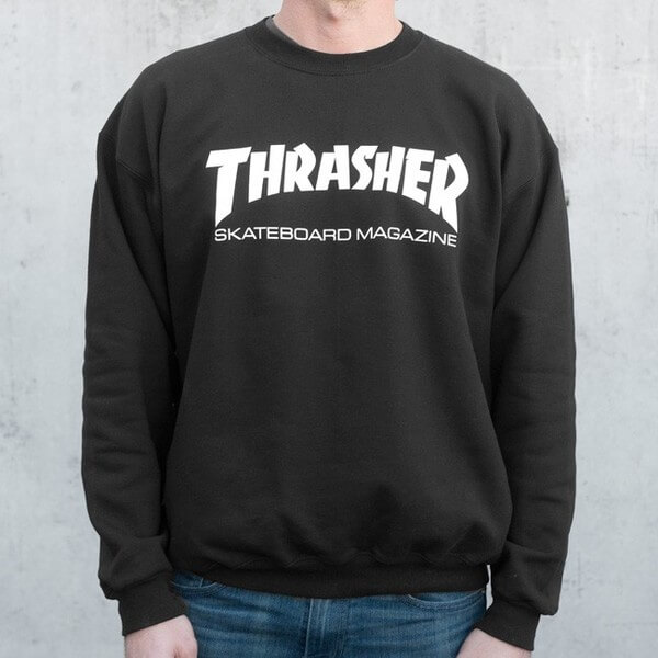 Thrasher Magazine Logo Skate Mag Men's Crew Neck Sweatshirt