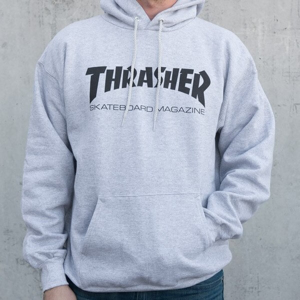 711a28d9f3bc Thrasher Magazine Logo Skate Mag Grey Men s Hooded Sweatshirt - X-Large -  Warehouse Skateboards