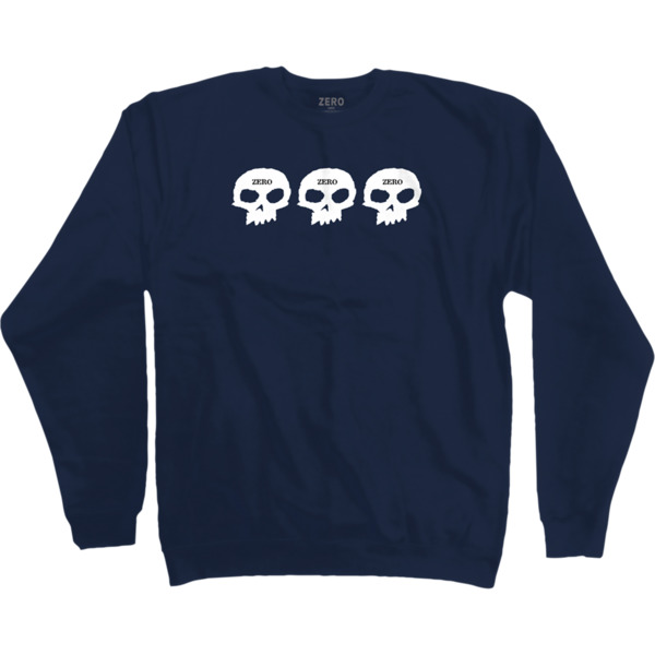 Zero Skateboards 1999 Blue Men's Crew Neck Sweatshirt - Small