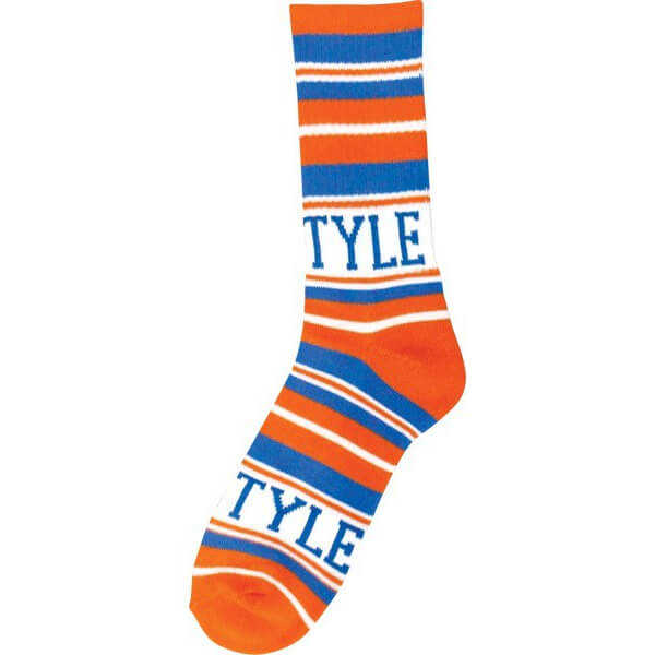Bro Style Skateboards Home Team Orange / Blue Crew Socks - One size fits most