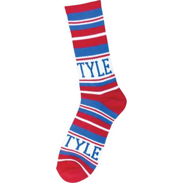Bro Style Skateboards Home Team Red / Blue Crew Socks - One size fits most