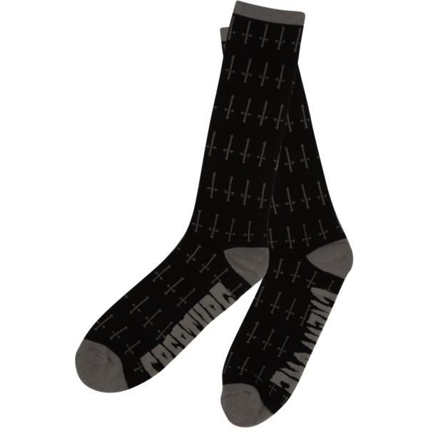 Creature Skateboards Holy Crosses Black Crew Socks - One size fits most