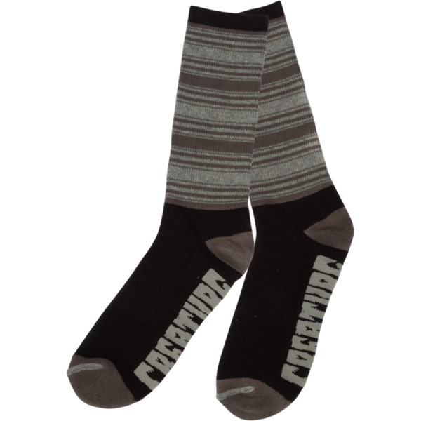 Creature Skateboards Transition Black / Grey Crew Socks - One size fits most