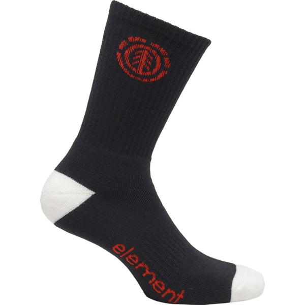 Element Skateboards Primo Flint Black Crew Socks - One size fits most