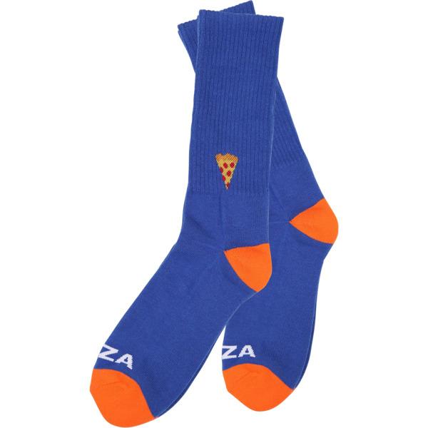 Pizza Skateboards Emoji Blue / Orange Crew Socks - One size fits most