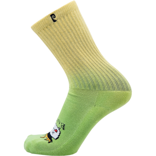 Psockadelic Burnt Green Crew Socks - One size fits most