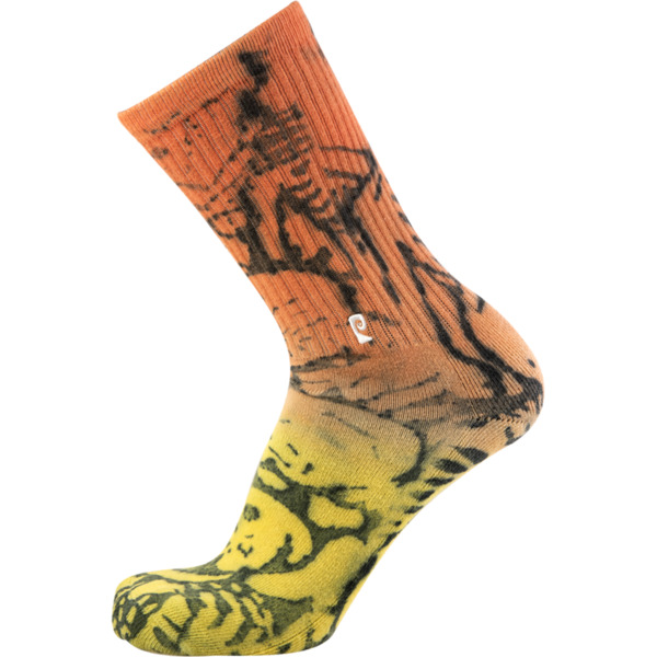 Psockadelic Burning Time Dip Dye Crew Socks - One size fits most
