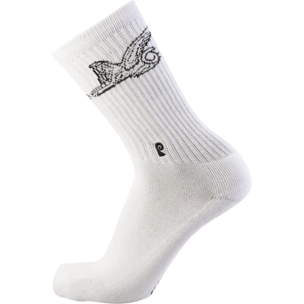 Psockadelic Time Machine White / Black Crew Socks - One size fits most