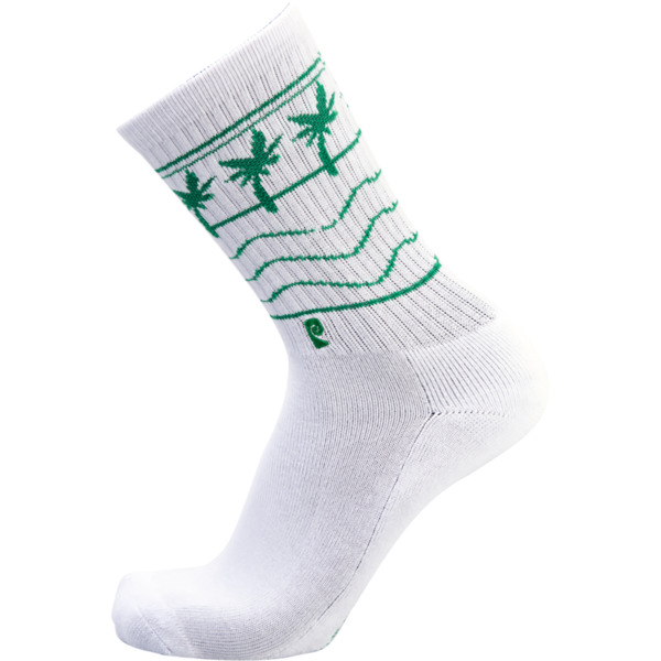 Psockadelic High-N-Low White Crew Socks - One size fits most