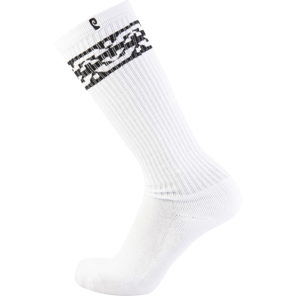 Psockadelic Knee High 2 White / Black Knee High Socks - One size fits most