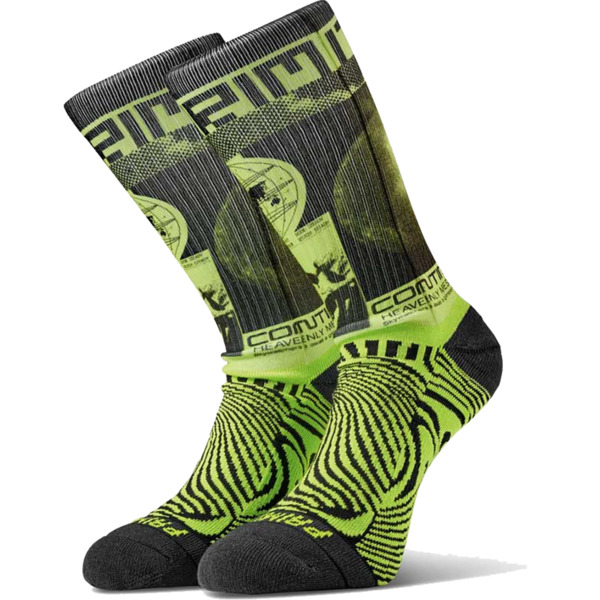 Primitive Skateboarding Perception Black / Lime Crew Socks - One size fits most