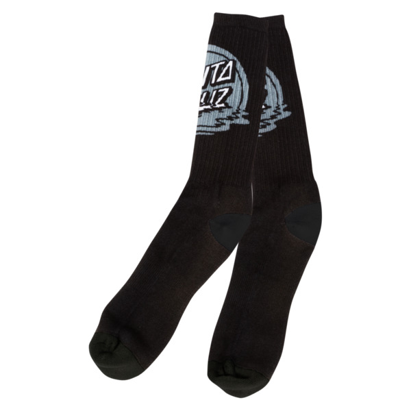 Santa Cruz Skateboards Dot Reflection Black Crew Socks - One size fits most