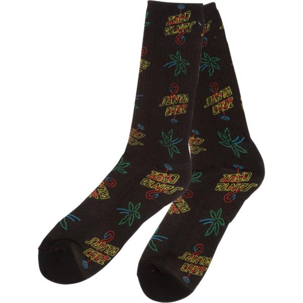 Santa Cruz Skateboards Glow Black Crew Socks - One size fits most